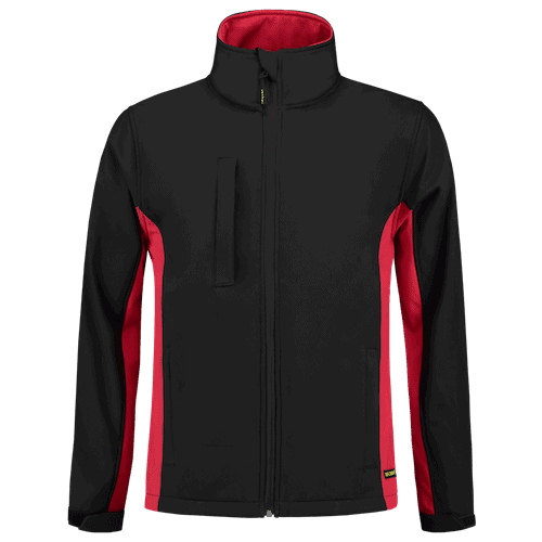 Tricorp Bicolor Softshell jas - zwart/rood