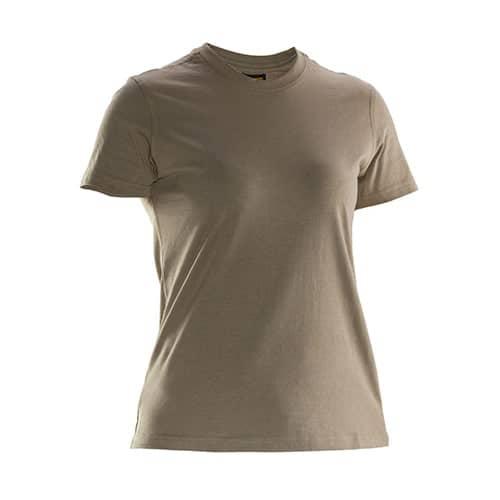 Jobman 65526510 dames T-shirt - lichtbruin