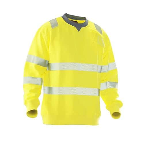 Jobman 65512393 KL3 roundneck sweater - geel