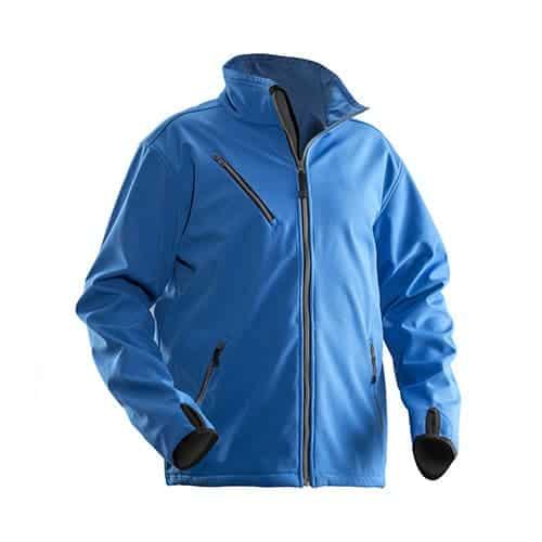 Jobman 65120171 softshell jas - blauw