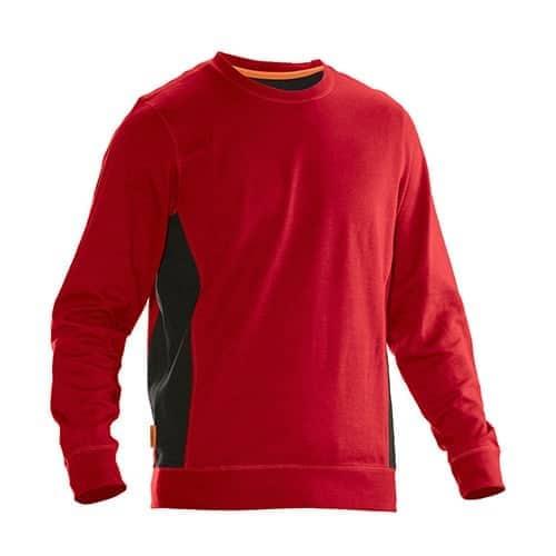 Jobman 65540220 sweater trui - rood