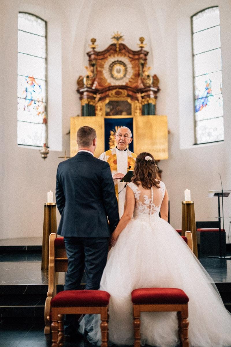Trauung Hochzeit Bildstein mit Pfarrer