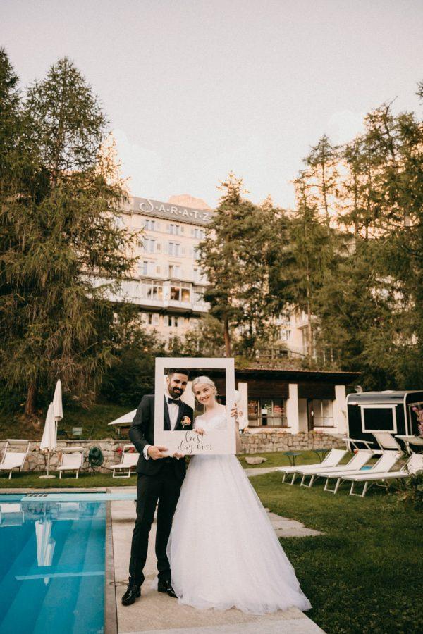 Hotel Saratz Photoshooting Wedding