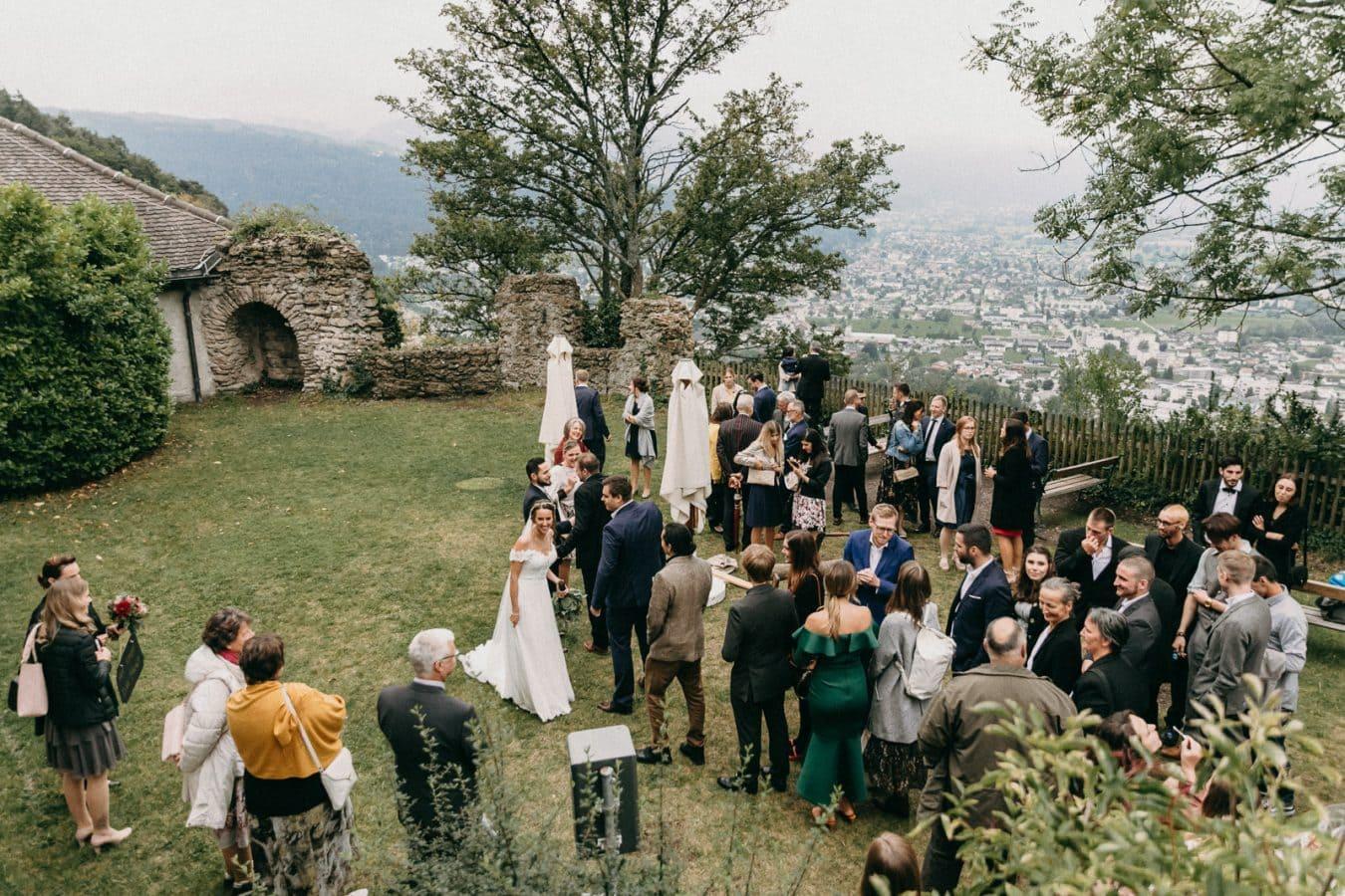 Hochzeitsfotografie Bregenz St. Gebhardsberg Hochzeitsgesellschaft