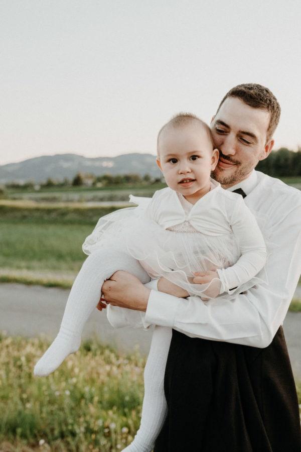 Vater und Tochter Portrait