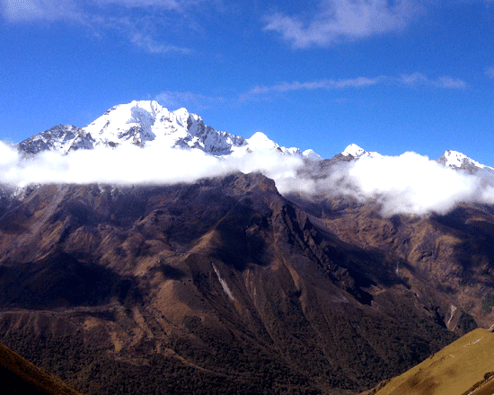 Langtang ri mountain view from Kyanjing gompa