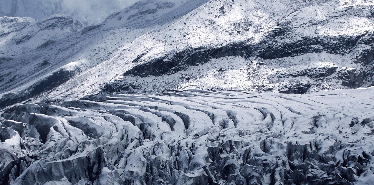 Manaslu Base Camp glacier