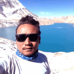 Suk Ghale in Tilicho lake