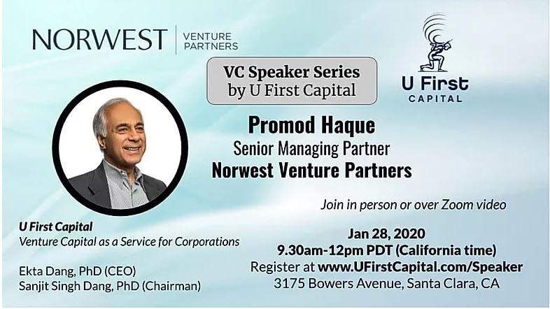 U First Capital VC Speaker Series