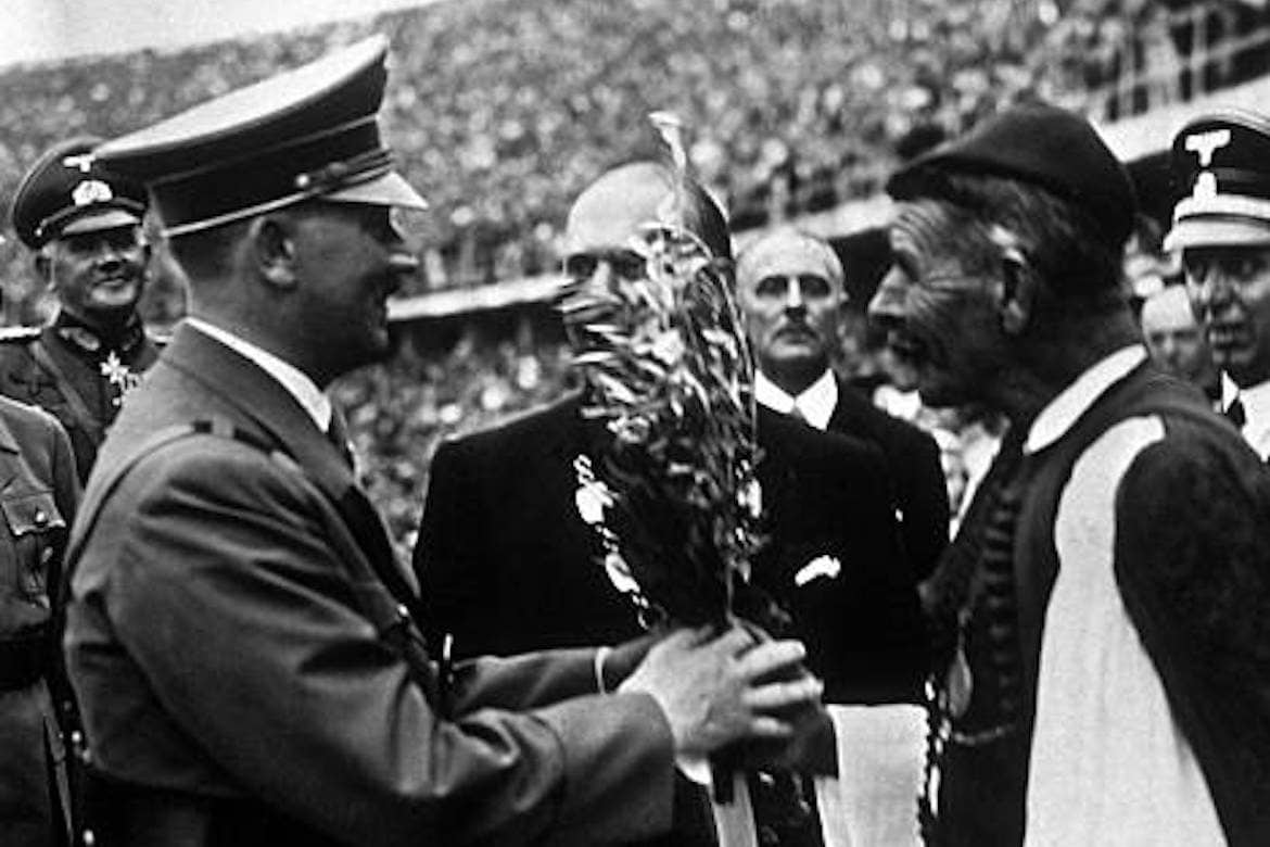 On This Day August 1, 1936: Spyridon Louis Presents Hitler with Olive Tree from Olympia