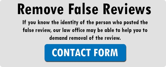 Remove False Yelp Review