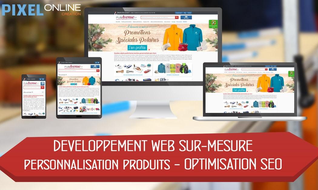 Création site E-commerce sur-mesure et référencement : PubAvenue