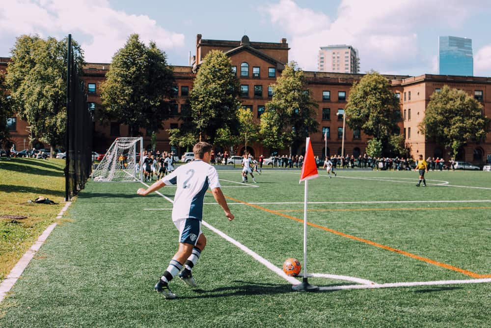 soccer photography from corner