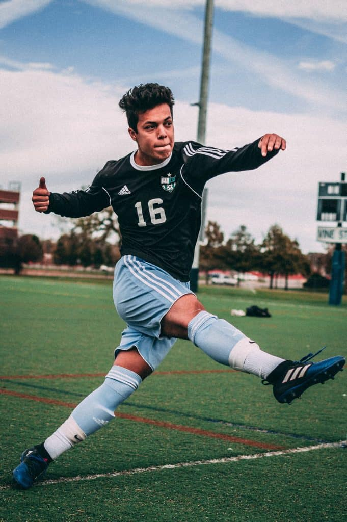 soccer photography with correct shutter speed