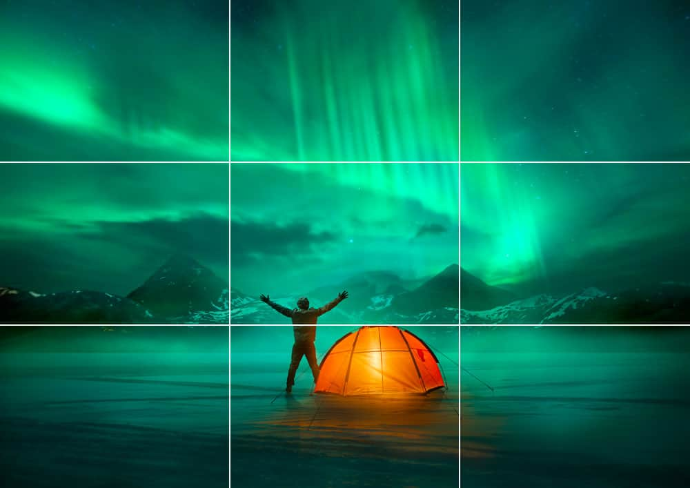 rule of thirds northern lights