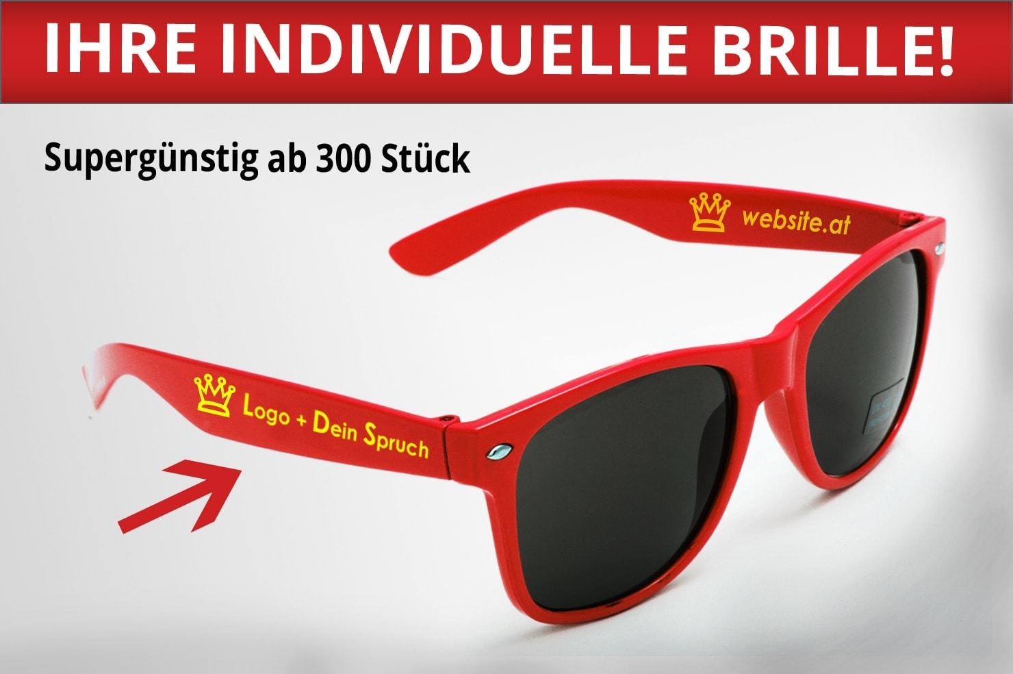 bedruckte Sonnenbrillen mit Logo selbst gestalten | Ihr