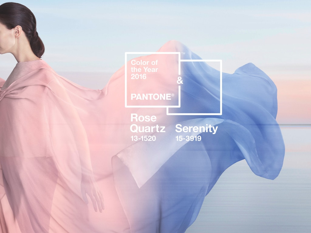 Pantone's Rose Quartz and Serenity.