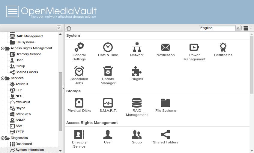 OpenMediaVault su Raspberry Pi (NAS software)