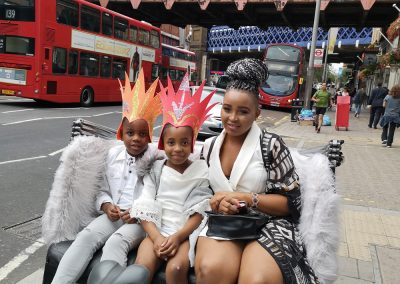 spending time with the kids in london