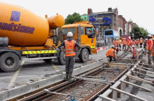 Roadstone LUAS cross city Rapid Set Concrete