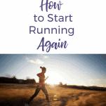 female runner starting to run again in field