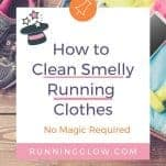 clean smelly running clothes washing machine