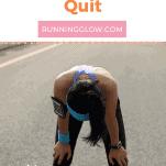 tired female runner quitting