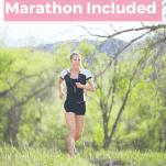 female running virtual race alone