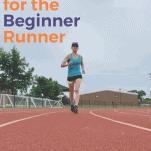 female runner doing speed workout on track
