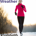 female running in snow and cold weather