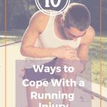 male runner holding knee running injury