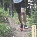 male running on trail alone