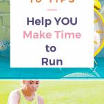 clock female runner