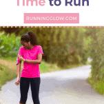 female runner country road