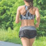 female runner strong