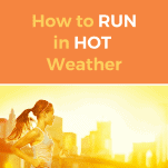 a female running in hot weather