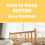 female runner sleeping in the morning in bedroom