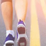 lower part female runner's legs