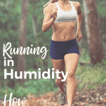 female running in humid weather in woods