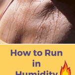 sweaty female runner's chest