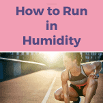 female runner in humid weather