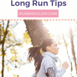 female running outdoors long run