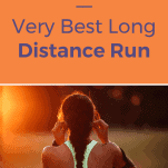 female runner putting in headphones