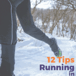 runner in snow with black tights on