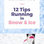 running shoe in snow and ice