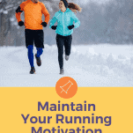 two people running in cold winter