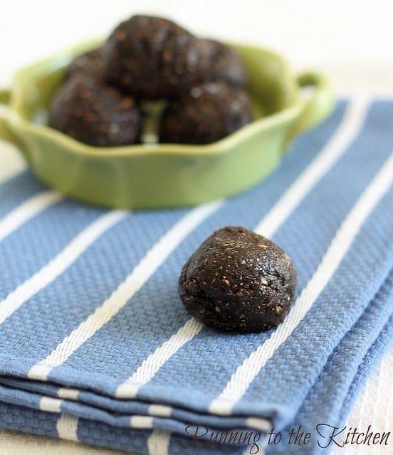 No Bake Brownie Fudge Balls
