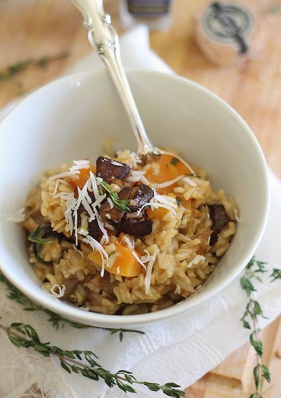 Butternut Squash and Porcini Mushroom Risotto