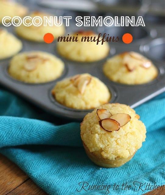 Coconut Semolina Mini Muffins
