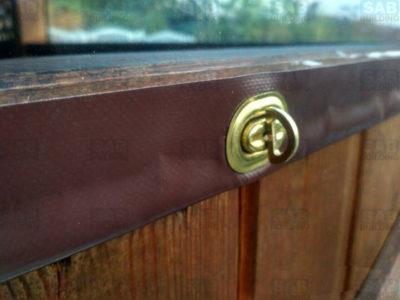 Поворотный механизм для мягких окон